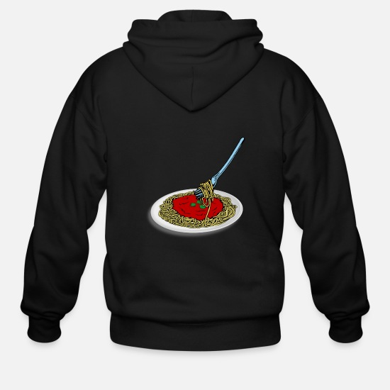 Spaghetti Hoodies & Sweatshirts - spaghetti - Men's Zip Hoodie black