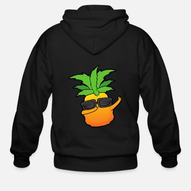 Vegetables Dabbing Dab Pineapple Ananas - Men's Zip Hoodie