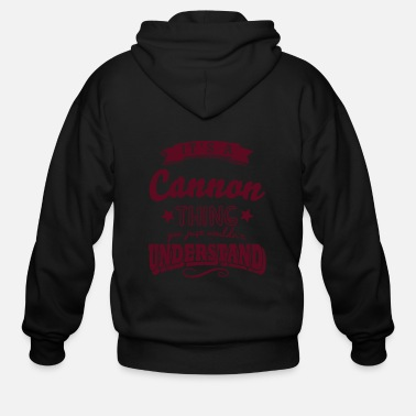 Surname its a cannon name surname thing - Men's Zip Hoodie