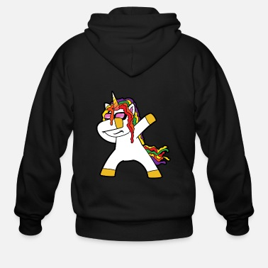 Elf Dabbing Dab Unicorn - Men's Zip Hoodie