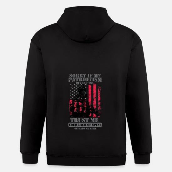finest selection af13f 672ac Patriots Patriotism Patriotic Veteran Men's Zip Hoodie - black