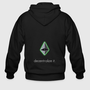 ethereum decentralize it ethereum eth blockchain - Men's Zip Hoodie