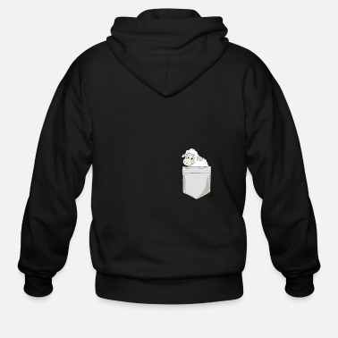 Sheep Just Go Everywhere With My Sheep In Pocket - Men's Zip Hoodie