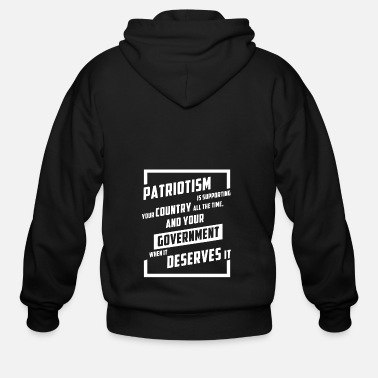 PATRIOTISM SUPPORTING YOUR COUNTRY - Men's Zip Hoodie