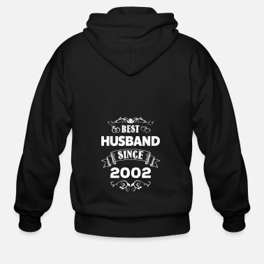 Wedding Best Husband 2002 - 16th Wedding Anniversary - Men's Zip Hoodie