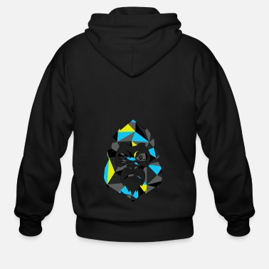 Gorilla Monkey Gorilla Geometric - Men's Zip Hoodie