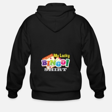 Bingo My Lucky Bingo Shirt Bingo player gift - Men's Zip Hoodie