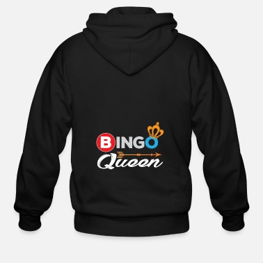 Bingo Bingo Shirt Bingo Queen Bingo Player Gift - Men's Zip Hoodie