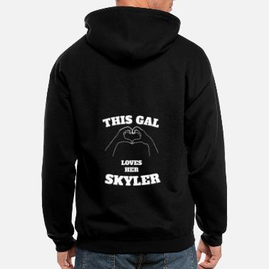 Skyler This Gal Loves Her Skyler Valentine Day Gift - Men's Zip Hoodie