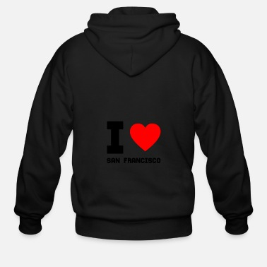 I Love San Francisco I love San Francisco gift present special offer - Men's Zip Hoodie