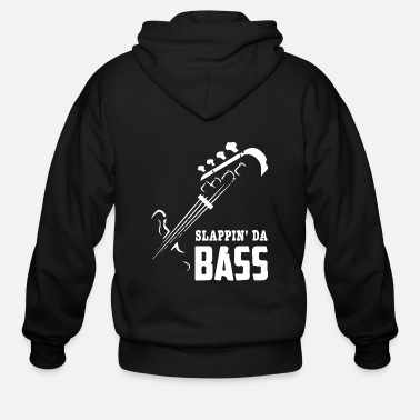 Rock Guitar slappin da bass 2 - Men's Zip Hoodie