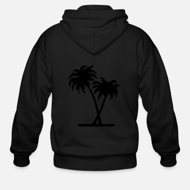 Palm Trees palm - palm tree - Men's Zip Hoodie