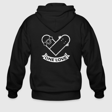 Quotes On Love Skateboarding Skateboard Boarders Sk8 Gift - Men's Zip Hoodie