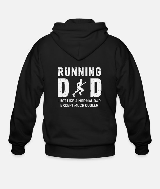 Sprinting Hoodies & Sweatshirts - Running - running dad for father runner men - Men's Zip Hoodie black