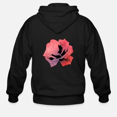 Watercolor rose watercolor - Men's Zip Hoodie