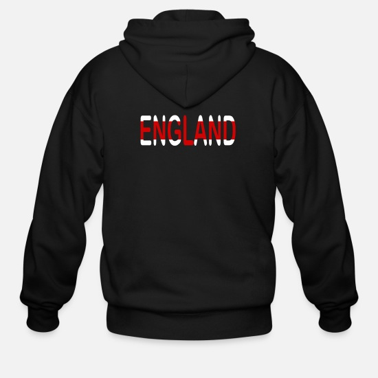 British Flag Hoodies & Sweatshirts - England - Men's Zip Hoodie black