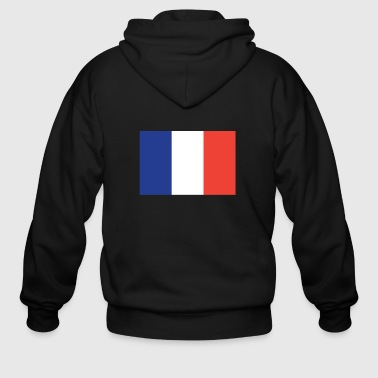 Flag of France Cool French Flag - Men's Zip Hoodie