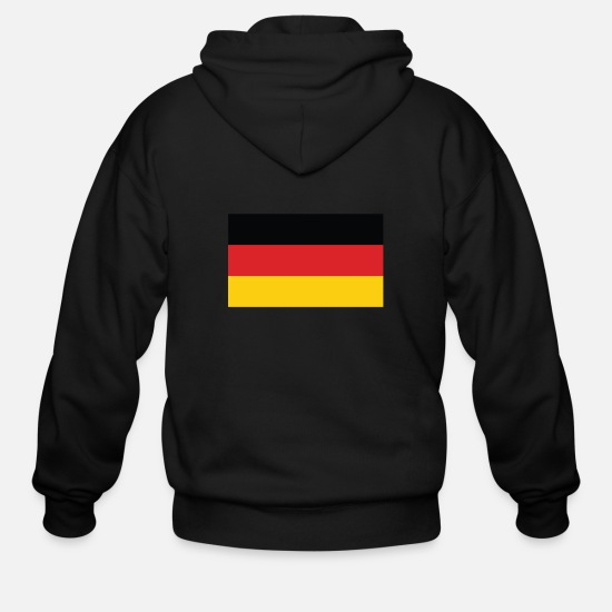 German Flag Hoodies & Sweatshirts - Flag of Germany Cool German Flag - Men's Zip Hoodie black