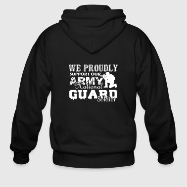 Army National Guard Soldier Shirt - Men's Zip Hoodie