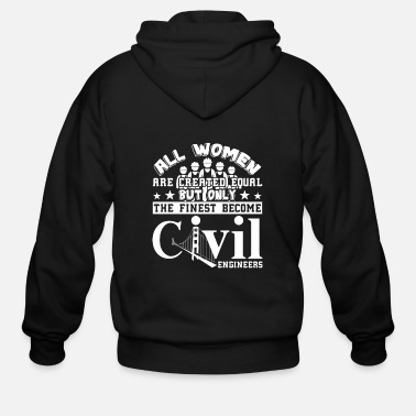 Civil Engineering Civil Engineer Tshirt - Men's Zip Hoodie