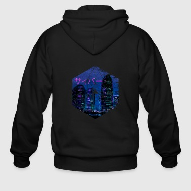Cyberpunk Architecture - Manga Abstract Japan - Men's Zip Hoodie