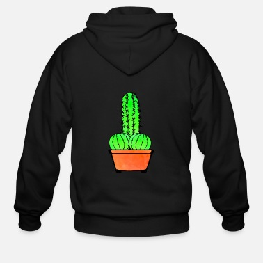 Provocation Provocative Cactus and Aloe - Men's Zip Hoodie