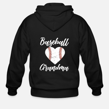 Grandparents baseball grandma gifts - Men's Zip Hoodie