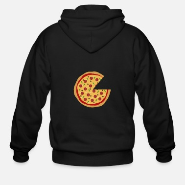 Pizza Missing Pizza Couple Design - Men's Zip Hoodie