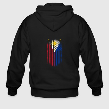 Filipino Filipino American Flag Philippines and USA Design - Men's Zip Hoodie
