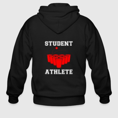 Beer Pong Beer Pong Student Athlete - Men's Zip Hoodie