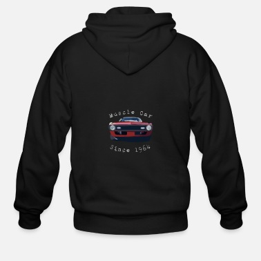 Muscle Muscle Car - Men's Zip Hoodie