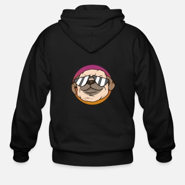 Swag dog pug sunglasses cool swag gift idea - Men's Zip Hoodie