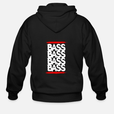 Techno Bass Bass Techno Bass - Men's Zip Hoodie