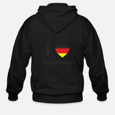 I love Germany Shirt - Men's Zip Hoodie