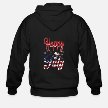 Th Of July $th of July Happy - Men's Zip Hoodie