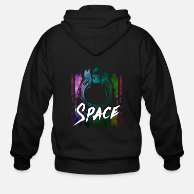 Spaceman Astronaut spacecraft space spaceman gift - Men's Zip Hoodie