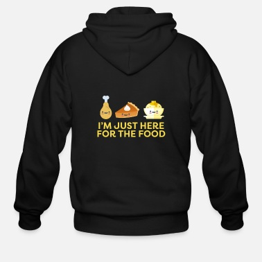 Thanksgiving I'm Just Here for the Food Thanksgiving Holiday - Men's Zip Hoodie