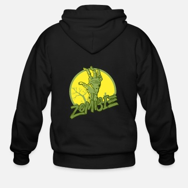 Scifi Zombie - Undead - Geek - Horror - Scifi - Dead - Men's Zip Hoodie