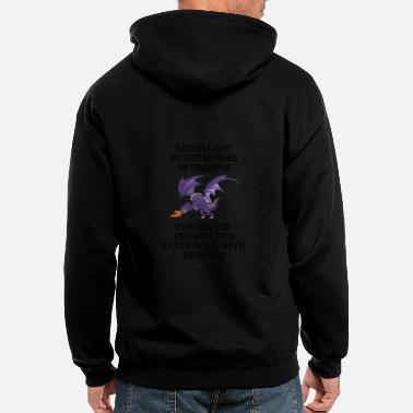 Dragons Lair Funny Nerd Meddle Not In The Affairs Of Dragons - Men's Zip Hoodie
