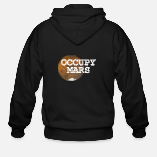 Mars Hoodies & Sweatshirts - Occupy Mars T-Shirt Gift - Men's Zip Hoodie black