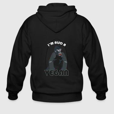 Muscle gaining Gym Vegan Tee - Men's Zip Hoodie