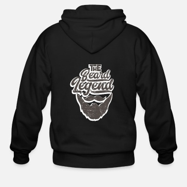 Beard The Beard Legend - Men's Zip Hoodie