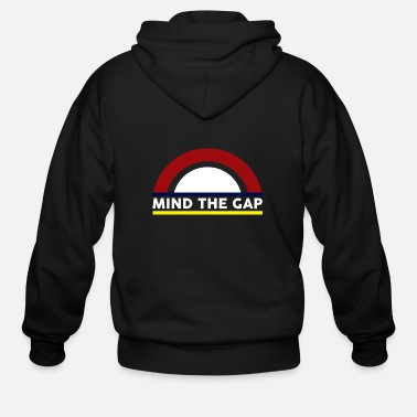 London Mind the Gap - Men's Zip Hoodie