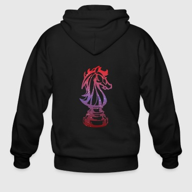 Horse Chess Piece Springer Chess Gift - Men's Zip Hoodie
