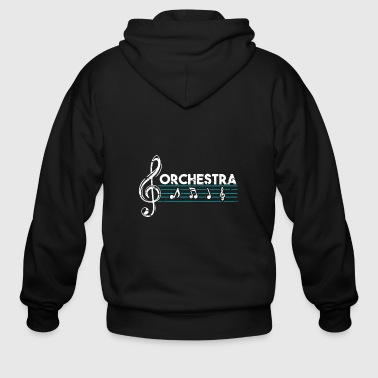 Orchestra classical music gift present - Men's Zip Hoodie
