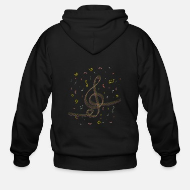 Music Note Clef music note gift rhythm sound composer - Men's Zip Hoodie