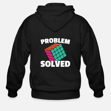 Cube Vintage Games - Rubiks Problem Solved - Men's Zip Hoodie
