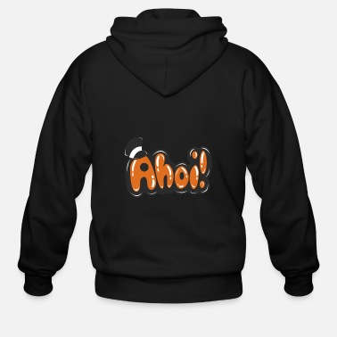 Holidaymaker Funny Motive Ahoi! - Men's Zip Hoodie