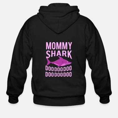 Mommy Mommy Shark doo doo- Shirt - Men's Zip Hoodie