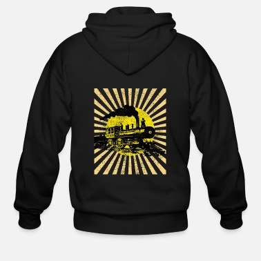 Steam Locomotive Steam locomotive - Men's Zip Hoodie